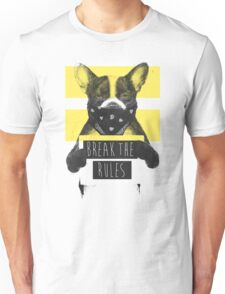 Rebel dog (yellow) Unisex T-Shirt