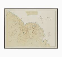 Vintage Map of Bar Harbor Maine (1897) T-Shirt