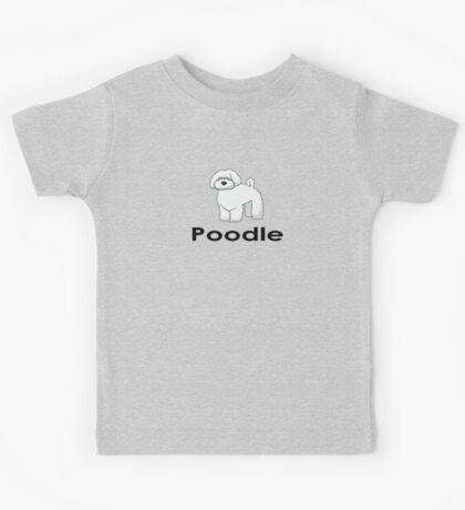 Poodle Dog T-Shirt Kids Tee