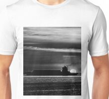 Silhouette... Black and White Unisex T-Shirt
