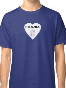 Poodle Love Sticker Classic T-Shirt