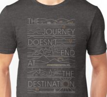 The Journey (white lines version) Unisex T-Shirt