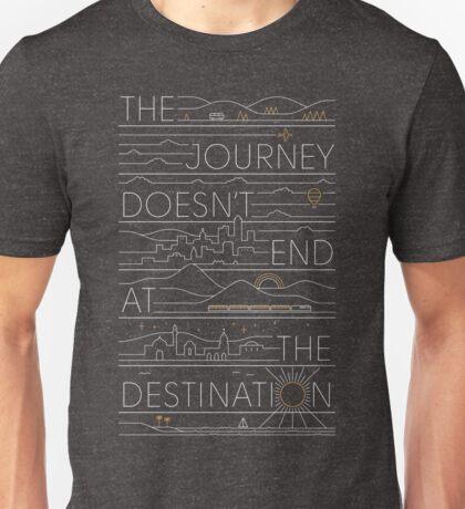 The Journey (white lines version) Unisex T-Shirt