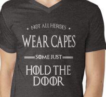 Wear Cape Not Cop Mens V-Neck T-Shirt