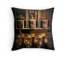 Gumball Memories - Row of Antique Vintage Vending Machines - Series - Iconic New York City Throw Pillow