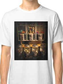 Gumball Memories - Row of Antique Vintage Vending Machines - Series - Iconic New York City Classic T-Shirt