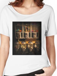 Gumball Memories - Row of Antique Vintage Vending Machines - Series - Iconic New York City Women's Relaxed Fit T-Shirt