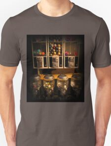 Gumball Memories - Row of Antique Vintage Vending Machines - Series - Iconic New York City T-Shirt
