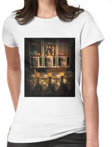 Gumball Memories - Row of Antique Vintage Vending Machines - Series - Iconic New York City Womens Fitted T-Shirt