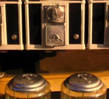 Gumball Memories - Row of Antique Vintage Vending Machines - Series - Iconic New York City Sticker
