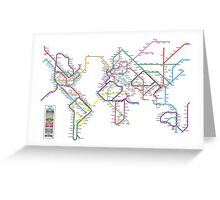 World Tube Metro Map Greeting Card