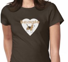 Beagle Dog T-Shirt Womens Fitted T-Shirt