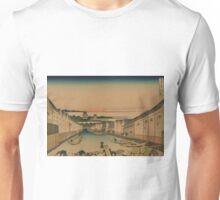 Edo nihonbashi - Hokusai Katsushika - 1890 Unisex T-Shirt