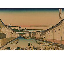 Edo nihonbashi - Hokusai Katsushika - 1890 Photographic Print