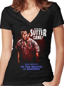 Sutter Cane John Carpenter Horror Movie T-Shirt Women's Fitted V-Neck T-Shirt