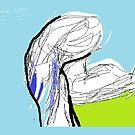 Running Athlete -(120714)- Digital artwork/MS Paint/Mouse drawn by paulramnora