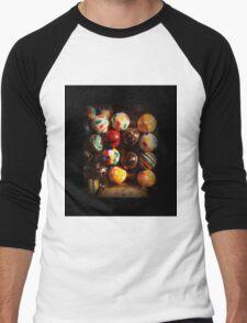Gumball Machine in Shadow - Series - Hi-Bounce Balls - Iconic New York City Men's Baseball ¾ T-Shirt