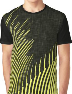 Yellow waves, line art, curves, abstract pattern 3 Graphic T-Shirt