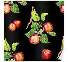 red apples on black Poster