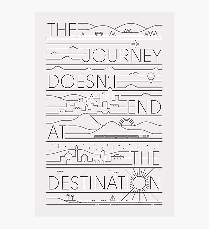 The Journey (black lines version) Photographic Print