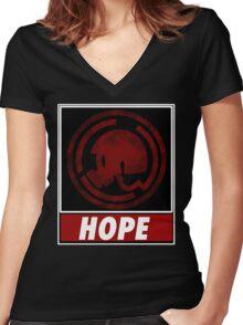 danganronpa hope Women's Fitted V-Neck T-Shirt