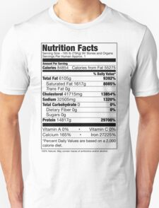 Human Nutrition Facts Unisex T-Shirt