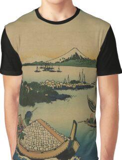 Buyo tsukuda-jima - Hokusai Katsushika - 1890 Graphic T-Shirt
