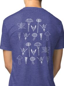Fungi and flowers white Tri-blend T-Shirt