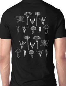 Fungi and flowers white Unisex T-Shirt