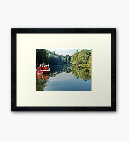 River Boat Framed Print