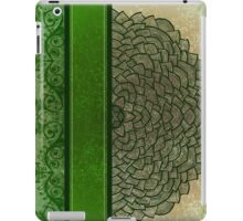 Green stripe and flower iPad Case/Skin