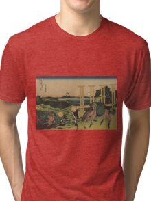 Bushu senju - Hokusai Katsushika - 1890 Tri-blend T-Shirt