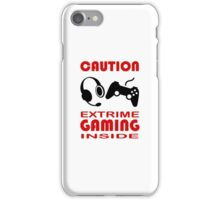 Caution Extreme Gaming inside - Programming iPhone Case/Skin