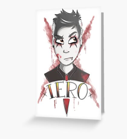 frank iero Greeting Card