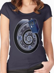 The Twelfth Doctor - time spiral Women's Fitted Scoop T-Shirt