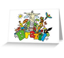 Funny cartoon brazil picture Greeting Card