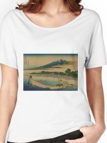 A sketch of Tago Bay at Ejiri along the Tokaido - Hokusai Katsushika - 1890 Women's Relaxed Fit T-Shirt