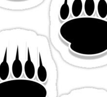 Black Bear Paw Prints Sticker