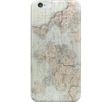 Vintage Map of The World (1875)  iPhone Case/Skin