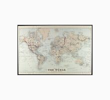 Vintage Map of The World (1875)  Unisex T-Shirt