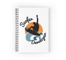 surfer developer surf waves programming Spiral Notebook