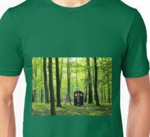 Bigfoot Leaving Tardis Unisex T-Shirt