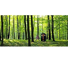 Bigfoot Leaving Tardis Photographic Print