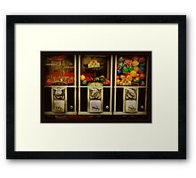 Gumballs All In A Row - Series - Iconic New York City Framed Print