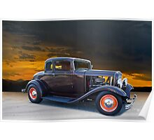 1932 Ford 'old school' Coupe Poster