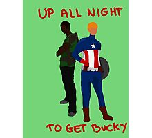 We're up all night to get Bucky Photographic Print