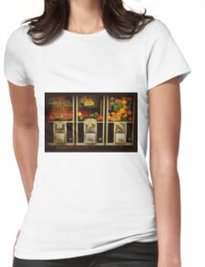 Gumballs All In A Row - Series - Iconic New York City Womens Fitted T-Shirt