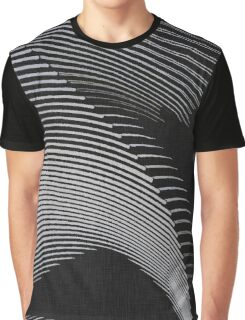Gray waves, line art, curves, abstract pattern 2 Graphic T-Shirt