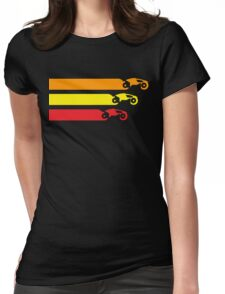 TRON LIGHT CYCLE RACING (2) Womens Fitted T-Shirt