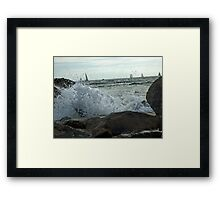 Quiet Sail Framed Print
